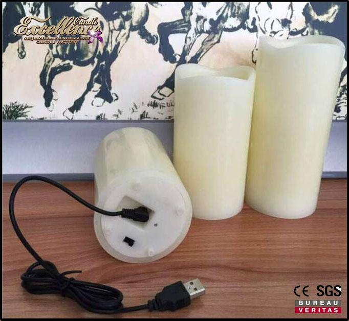 Unique and new USB rechargeable LED candles with high quality