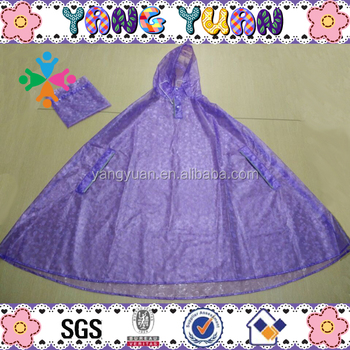 Adult Beautiful Design Rain Poncho with Package Bag