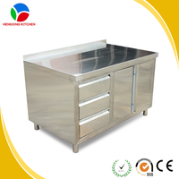 customized 304SS table/kitchen working table/stainless steel cabinet