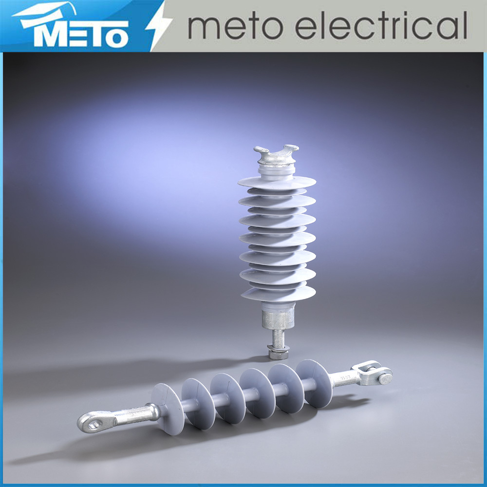 Meto china supplier 36kv high voltage silicone rubber insulator composite suspension electric insulator