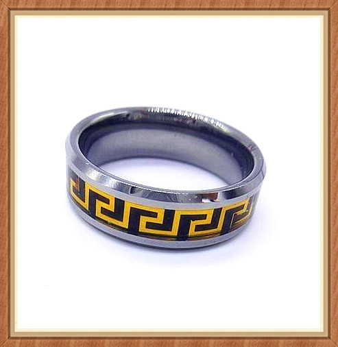 top selling products from wenfanqi jewelry the design of the Golden Circle black Tungsten Ring tungsten cock ring men jewelry