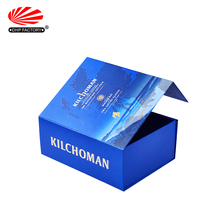 Custom Folding Luxury Paper Cardboard Packaging Glass Gift Box Wine