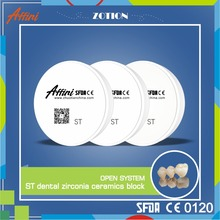 CE approved Denture material zirconium 100% Wieland system compatible