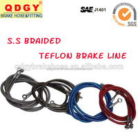 Braided stainless steel brake lines/SAE J1401