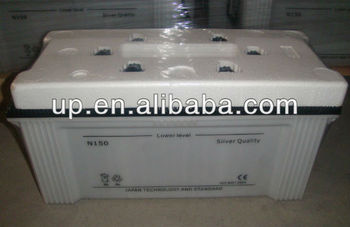 N150 dry charge car battery