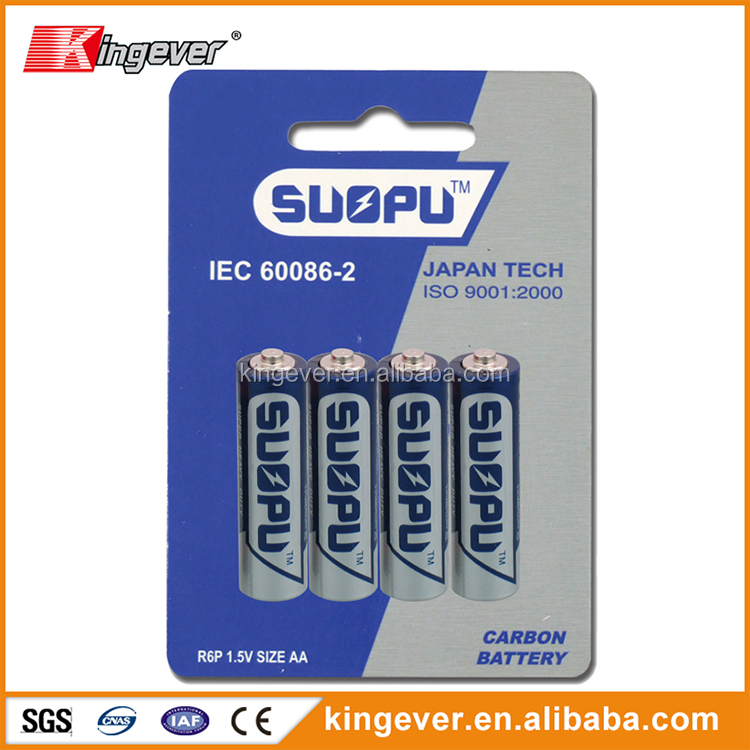 Very cheap car um3 batteries aa size all kinds of 1.5v dry cell battery