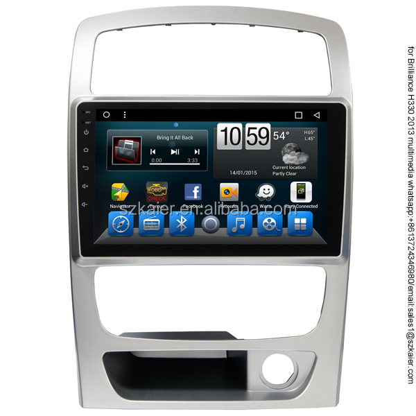 Android 8 core 2 din Car gps With Touch screen Car dvd Player Video player for BMW Brilliance H330 2013 with Wifi 4G TV