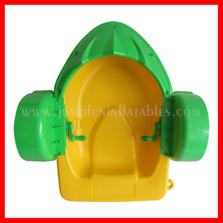 2016 plastic children hand boat on water pond,cheap aqua paddle boats for chidlren