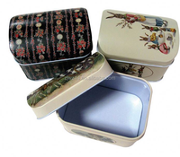 cheap fashion empty cookie tins/ rectangular metal box/ small pencil empty cookie tins