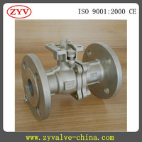 Two pieces stainless steel flanged Ball valve 3 inch