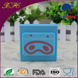 Promotional gift custom simple design cheap price rubber cover silicone metal case switch power supply cover