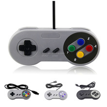 Retro Classic Wired USB Port SNES Controller Gamepad Joystick For PC Computer Laptop Portable USB Gaming Joypad Handle