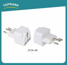 Toprank Top Quality Wonplug patented universal international usb travel electrical adapter