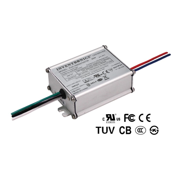 Inventronics 26W 37-74V 88% High Efficiency IP66 350mA Constant Current LED Driver LED Lighting Power Supply EUC-026S050STM0003