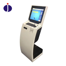 19inch management system touch screen printer ticket kiosk
