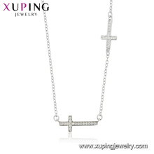 44505 xuping cross necklace faux bijoux