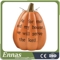 Polyresin hotsale pumpkin for fall decoration