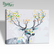 3-D Acrylic Paint Decor Deer Animal Kids Canvas DIY Digital Painting Kits