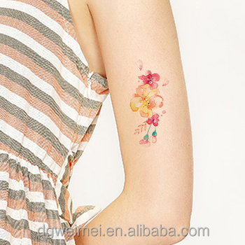 Floral Waterproof Temporary Tattoo Stickers For Body