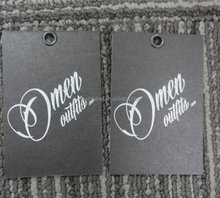 High quality garment paper personalized cloth hang tags
