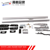Black /Silver Aluminum Alloy Luggage Carrier Roof Rack For Toyota Land Cruiser