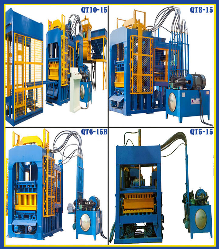 electric and hydraulic system Large Pressure manuel making block machine