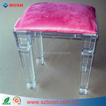Round and Rectangular Dressing Stool Vanity Chair Perspex Furniture Chair