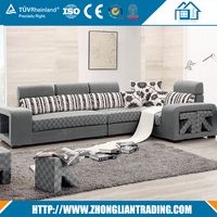 Cheap price latest design home living room use fabric sofa sets