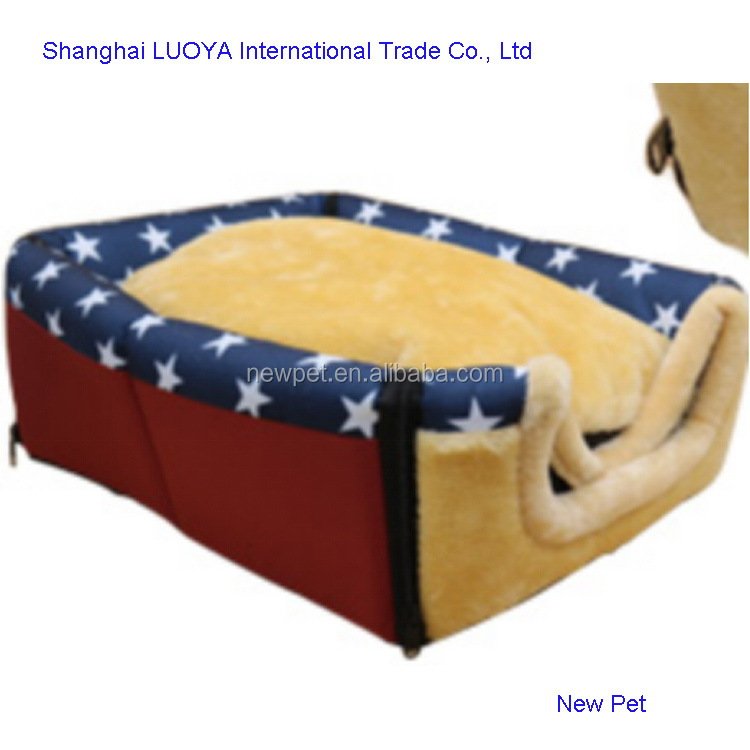 Good feature latest design soft pet bed dog house for 2 dogs animal product