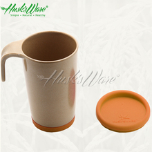 Original Single wall Rice Husks Plant Fiber Copper Mug Cup with Lid and Sleeve