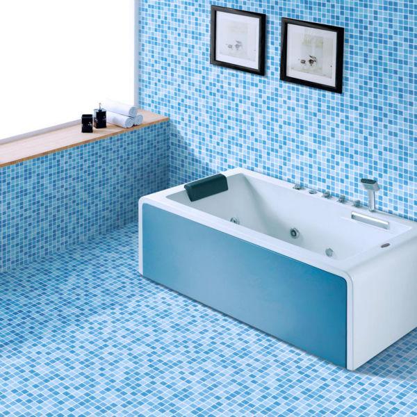 Ljo jy sw 03 eenvoudige premium moza eken goedkope aqua blauw tegels badkamer tegels prijs - Badkamer blauw ...