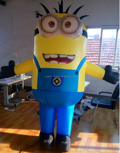 Hot Sale cute inflatable cartoon characters Minions