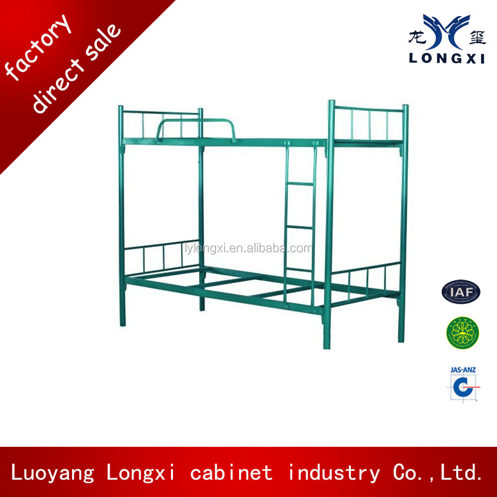 economical metal detachable bunk bed frame for school