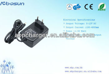 ac adapter ac 230v dc 12V 2.5A 30W with UL/CUL CE GS KC CB SAA FCC
