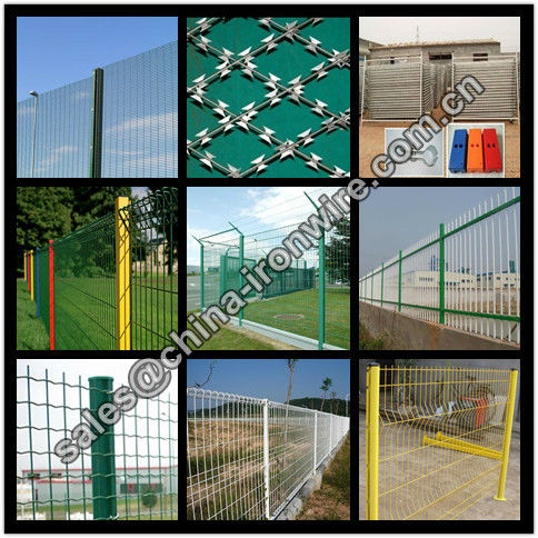 different kinds of wire mesh fence
