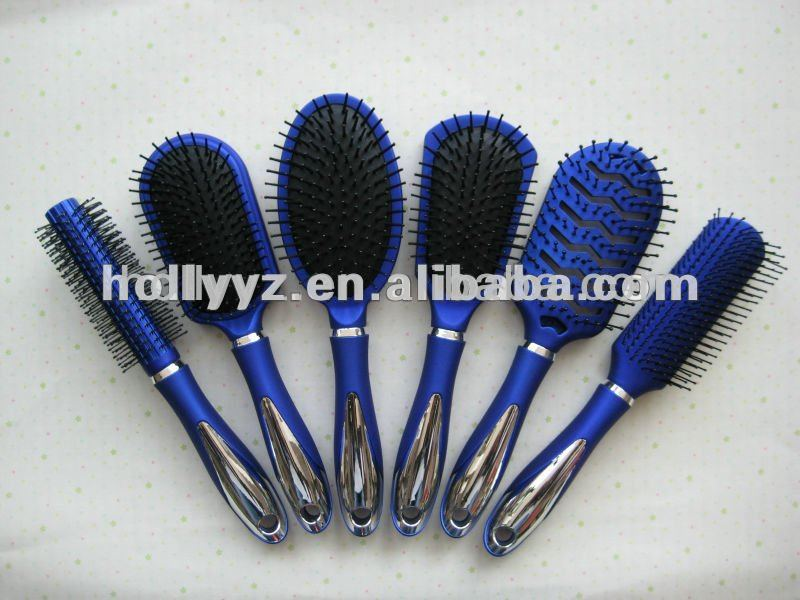 Hot sale design plastic blue fashion hairbrush