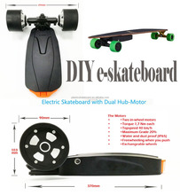 Newest motorized electric skateboard kit drive system with dual hub motors