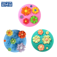 Beautiful Sun Flower 3D Silicone Fondant Mold Cake Decorating Tools