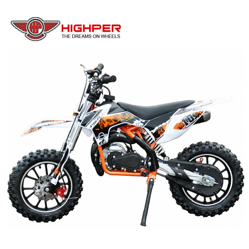High quality 49cc 2stroke kids gas powered mini dirt bike for sale(DB710)