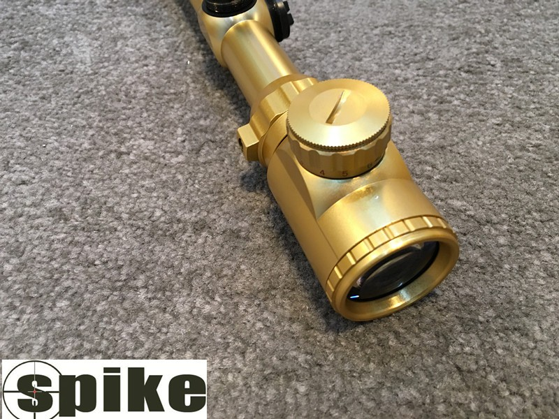 SPIKE Tactical 3-9X40EG Golden Rifle Scope with Range Finder Reticle/3-9x40EG Dual illumination Optical Hunting Riflescopes