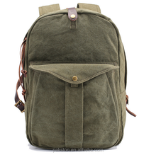 classical canvas backpack for school OEM manufacturer canvas backpacks