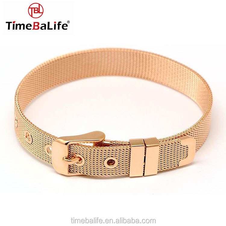 Quality Custom Logo Fashion Accessories Stainless Steel Bracelet Men Gold Jewelry