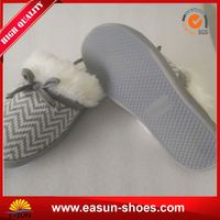 Free sample promotional lady slipper images cheap wholesale shoe sheepskin slippers