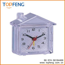 Lovely House Shaped Fluorescent Snooze Quartz Alarm Clock Home Decor Desktop Clock