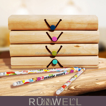 China factory wholesale creative design colorful cheap luxury wooden pen box