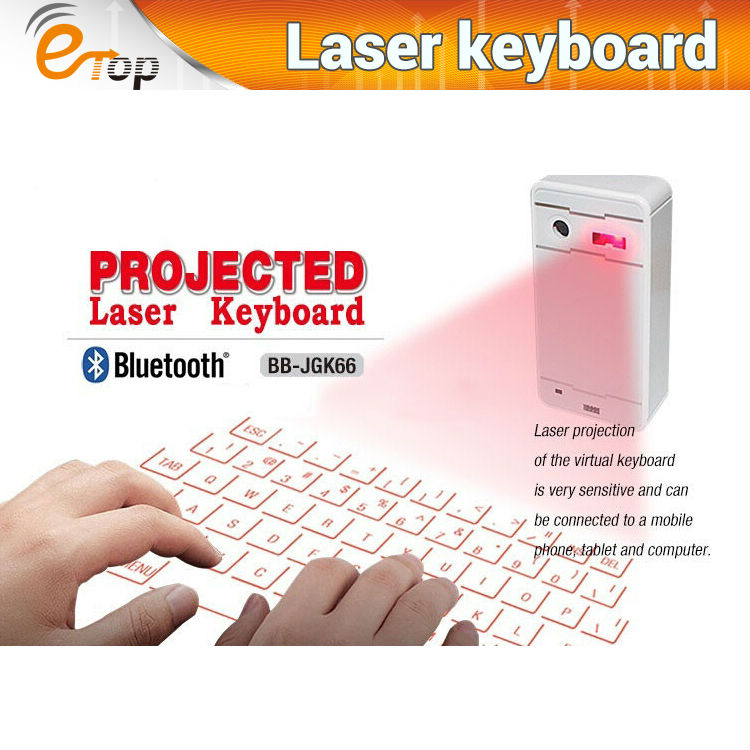 Factory direct!Wireless Bluetooth Virtual English Ultra Portable Mini Laser Keyboard For lenovo iphone etc.
