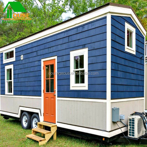 fast building green prefabricated house wooden tiny prefab mobile trailer house