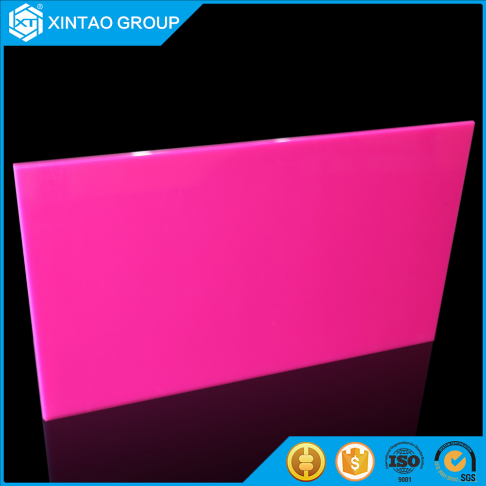2017 good price Xintao uv resistant acrylic board for outdoor advertising