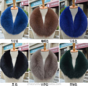 factory wholesale price real fox fur collar for garment