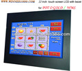 POG or WMS touch monitor with IR touch supporting CGA, bezel optional